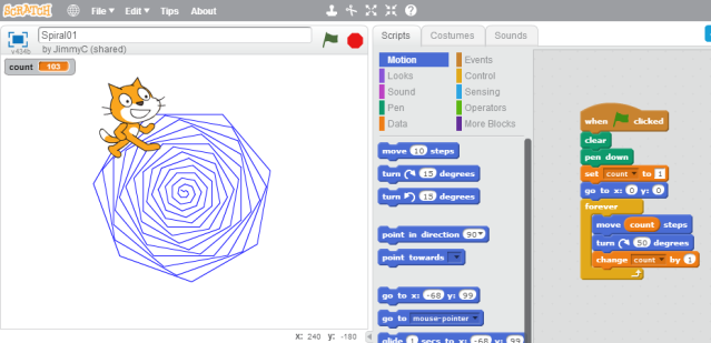how to create a spiral within a shape illustrator